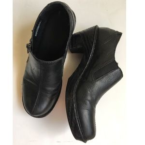 Born Black Leather Zip Up  Ankle Booties Sz 8.5 M